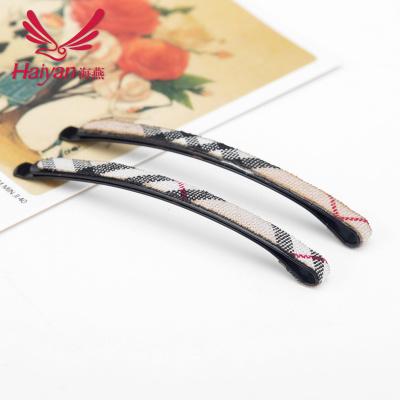Korea clips baby hair accessories Korean version of the word plaid fabric fashion hair accessories hair clip hairpin Yiwu wholesale