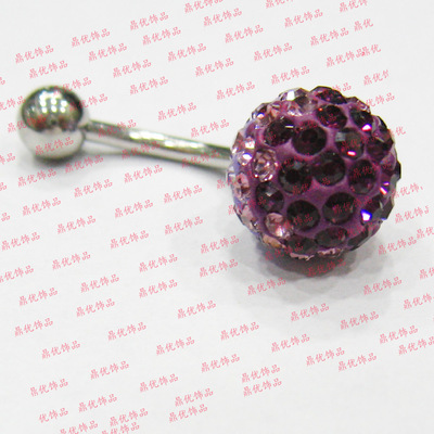 Yiwu wholesale factory direct Shambhala hypoallergenic double diamond-encrusted drill imported navel nail drill
