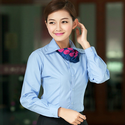 Off-the-shelf v collar splicing women's shirt with lace