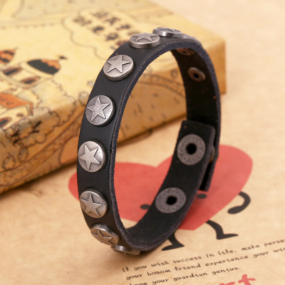 Europe and export new punk leather bracelet jewelry jewelry personalized bracelets for men and women leather bracelets