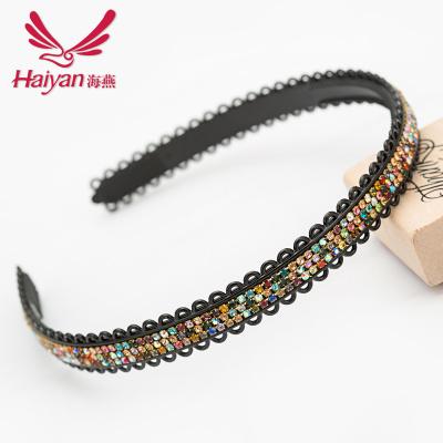 Yiwu jewelry hair accessory-grade Korea rhinestone headband wholesale diamond Ms Korean hair ACC mixed batch