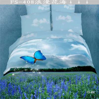 Yiwu snow dove foreign trade FS oil painting four pieces of cotton 3D sets