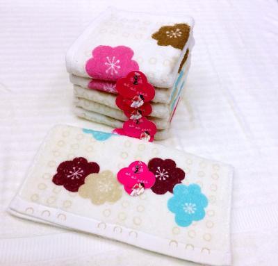 Cotton print towel welfare labor back face towel 9816