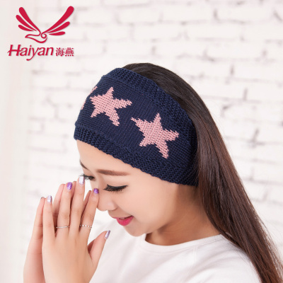 Korea fall/winter knitting wool Ribbon stars headband hair hoop