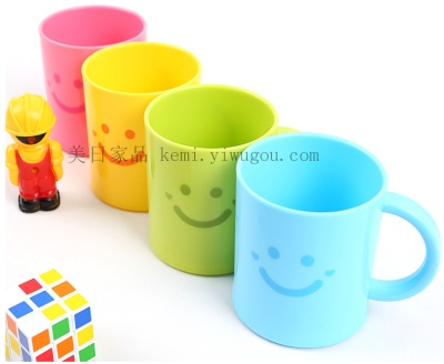 Japan KM 2034 smiling mug brush glass washing cups with handle brush Cup