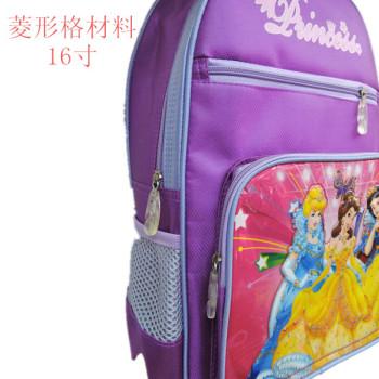 最新白雪公主卡通儿童书包 紫色女孩双肩包 东阳陈旭箱包皮件厂 义乌