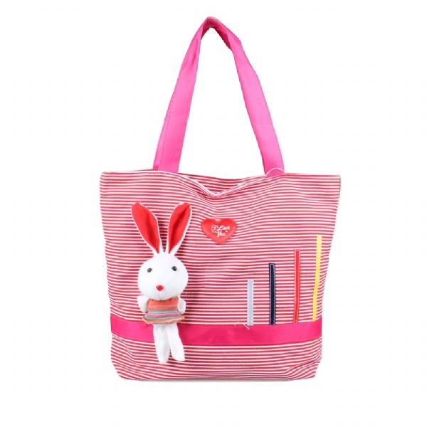 动物卡通包可爱小兔子单肩包休闲帆布包
