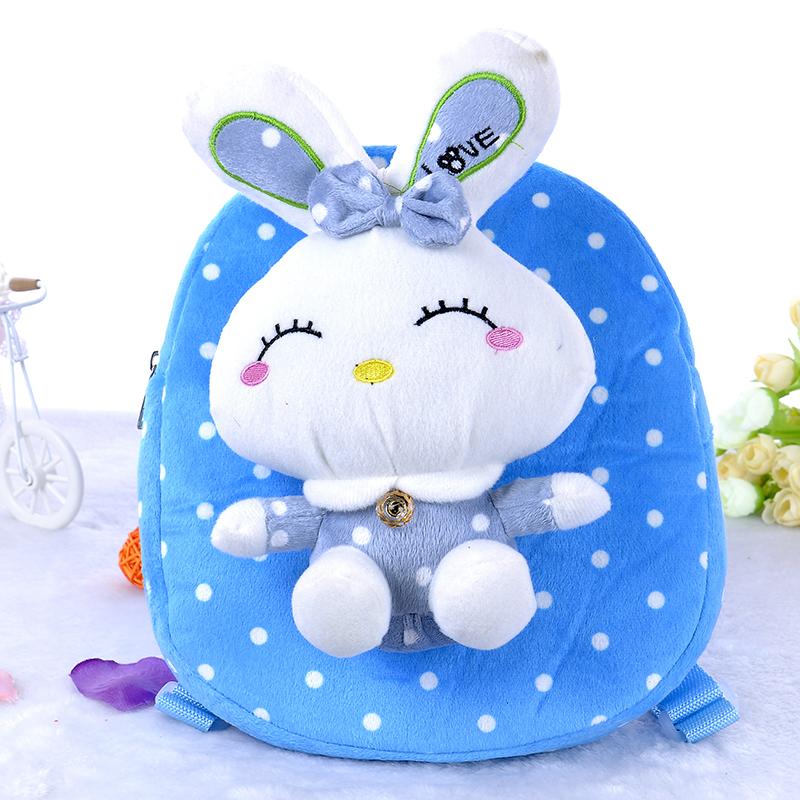 新款毛绒幼儿园小书包创意儿童点点兔双肩包卡通可爱玩具背包
