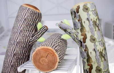 Simulation and stump ring pillow plush toys and creative home gifts, Office lunch break