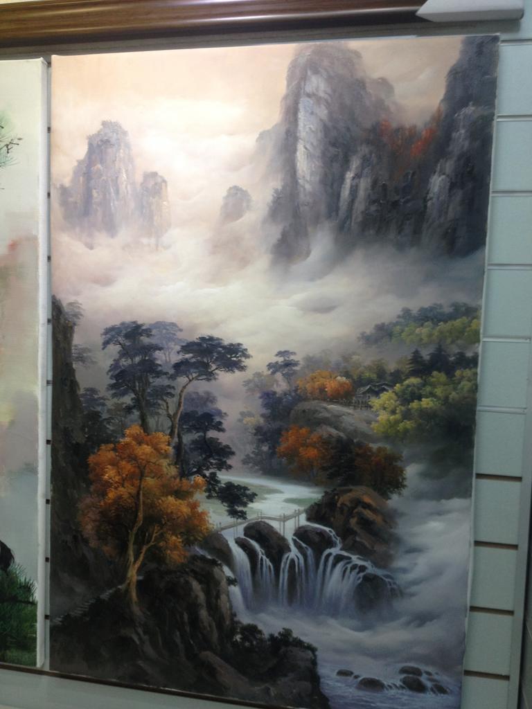 山水风景油画定制 走廊玄关客厅装饰画挂画 _ 黄德英