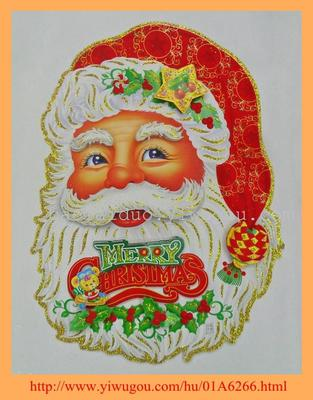 3D christmas Santa head sticker