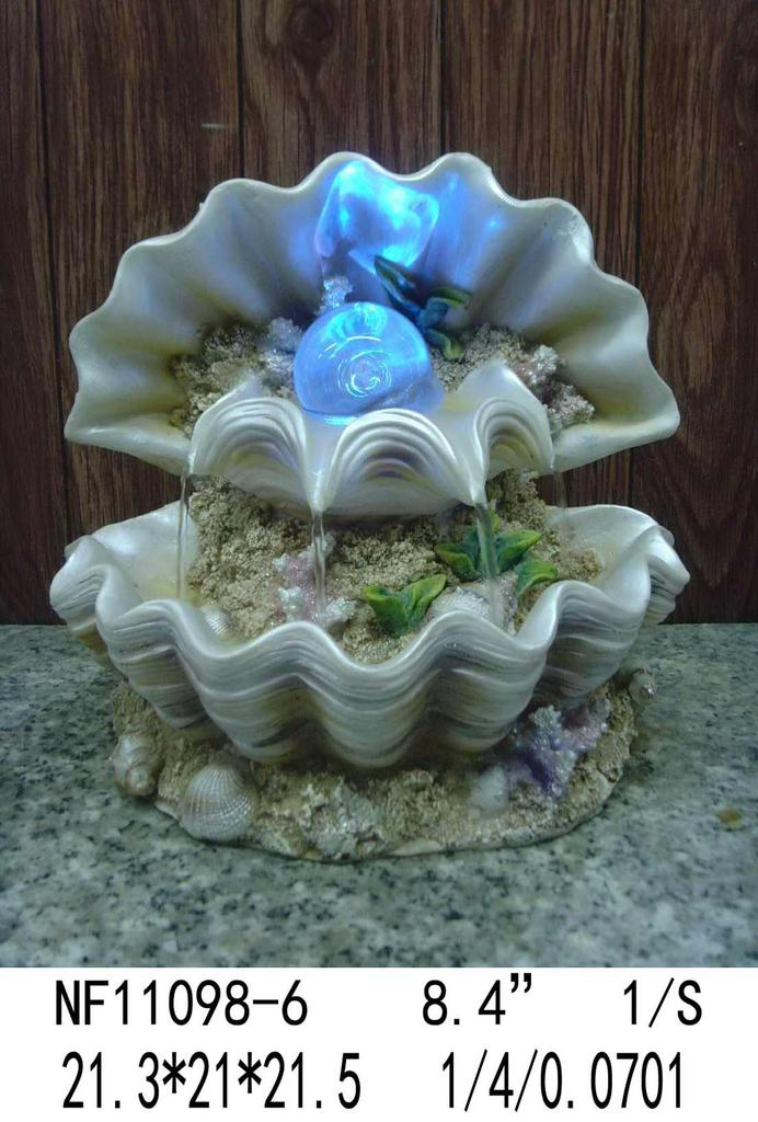 树脂工艺品摆件 贝壳流水