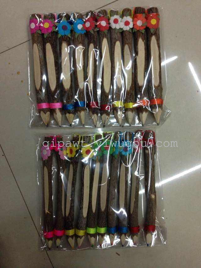 泰国工艺品 木质工艺品铅笔 原生态特色铅笔