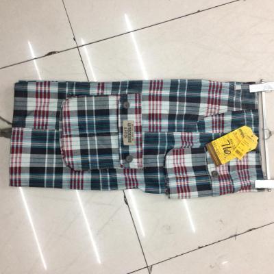 Cropped Plaid Pocket pants