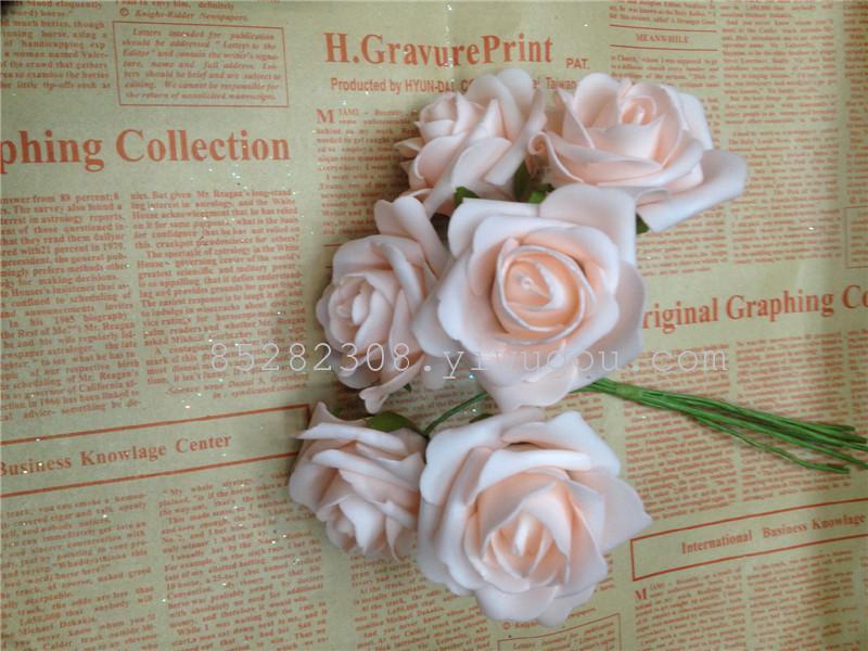 Supply Korean rose PE artificial flower bouquet-