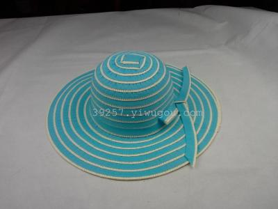 Women's leisure paper large-brimmed Sun hats caps Hat Panama hat factory outlet