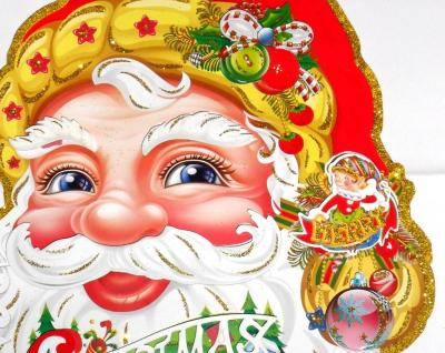 Factory direct new 2014 Santa stickers window stickers