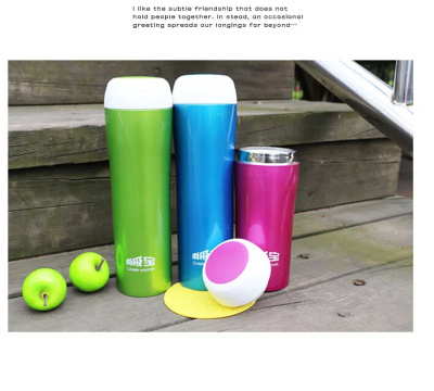 Couples Cup stainless steel vacuum flask green mug style drinking cup student drinking glasses