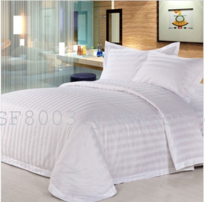 Luxury hotel supplies cotton four piece satin bedding