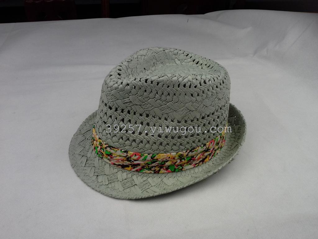 草帽 帽子 礼帽 纸编帽 男士 巴拿马帽 工厂直销 手编