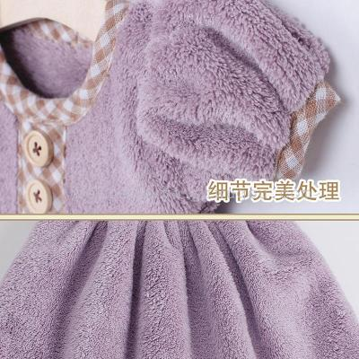 Leisure brand manufacturers coral velvet dress towel fashion creative home Princess towels