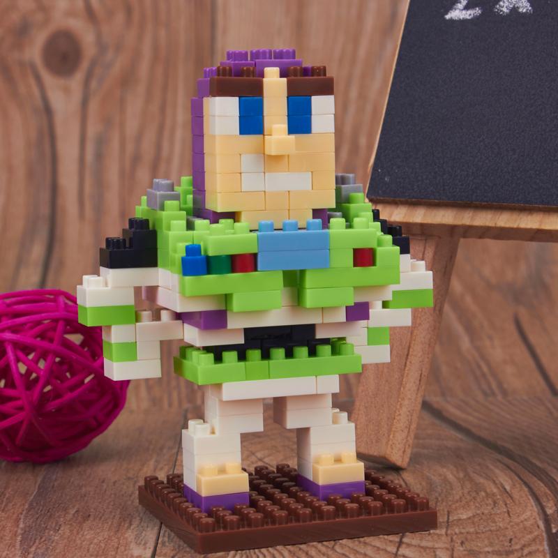 weagle钻石积木乐高式玩具迷你小颗粒拼装积木桶装巴斯光年