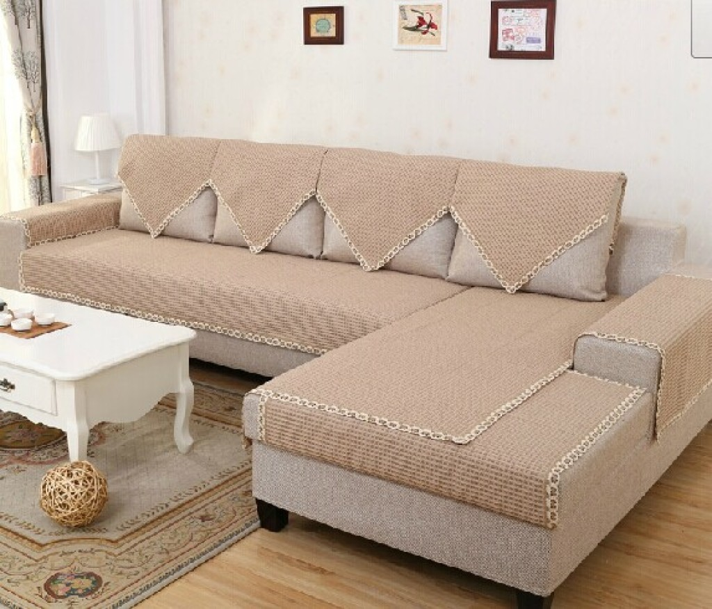 Garden Cotton Braided Leather Sofa Cushion Fabric Custom Towel Slip Solid Wood Seasons Factory