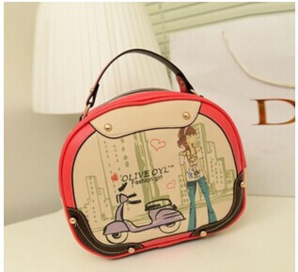 新款包包韩版卡通女包可爱机车美女手提包潮流可爱单
