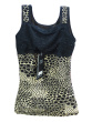 Thickened and velvet body warm vest classic Leopard print