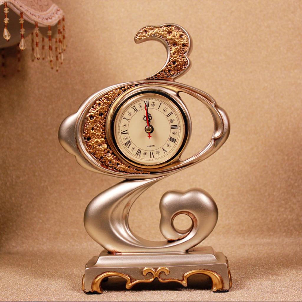 欧式复古抽象云朵时钟钟表摆件装饰品