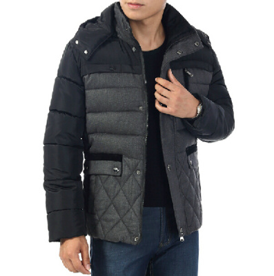 Trade explosions men older thick padded winter clothes men's Midlife men and Cap Daddy with Quilted Jacket coat