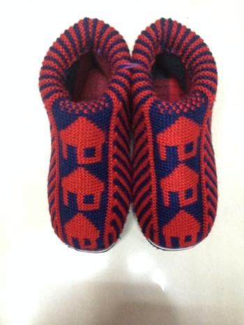 纯手工毛线棉鞋毛线海棉