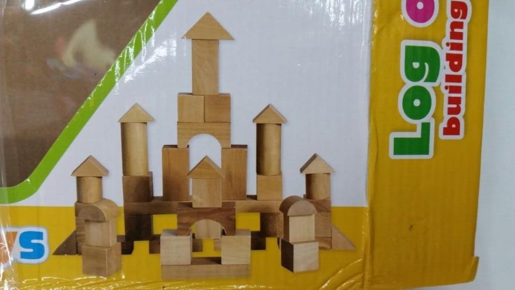 原木古堡积木 木制积木