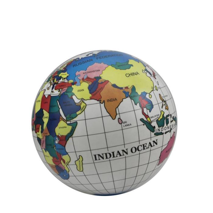 印花地球仪地图球 幼儿园儿童拍皮球可踢
