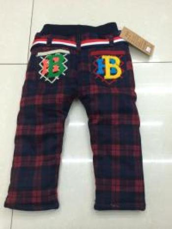 Boys Plaid cotton small pants