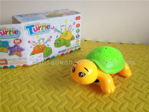 Educational children's musical toys infant early education tortoise light star projector electronic toys