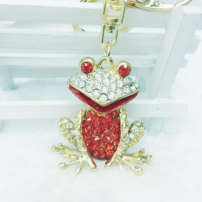 Supply Exquisite rhinestone Toad car Keychain frog creative fashion ... e779c99ca