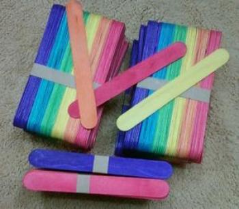 儿童手工制作材料 彩色木棒_智力早教手工坊_义乌国际