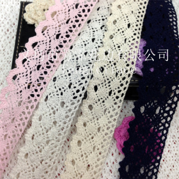 3.5-4 cm in Yiwu, colored cotton lace clothing textile crafts for accessories factory direct