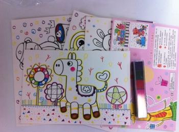 厂家直销 幼儿园手工玩具宝宝小号手指画 益智环保颜料