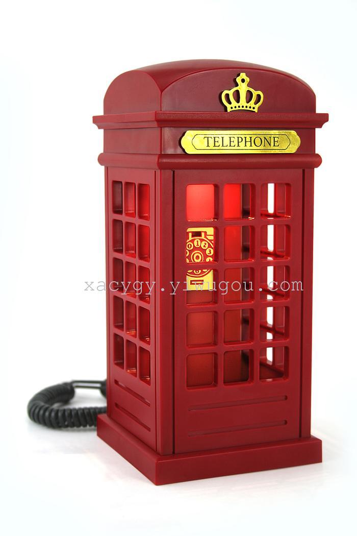 新款创意触控台灯电话座机 欧式电话亭电话机 _ 心爱