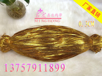 Christmas gift wrap flat gold wire 3MM thick film flat wire rope tag lines