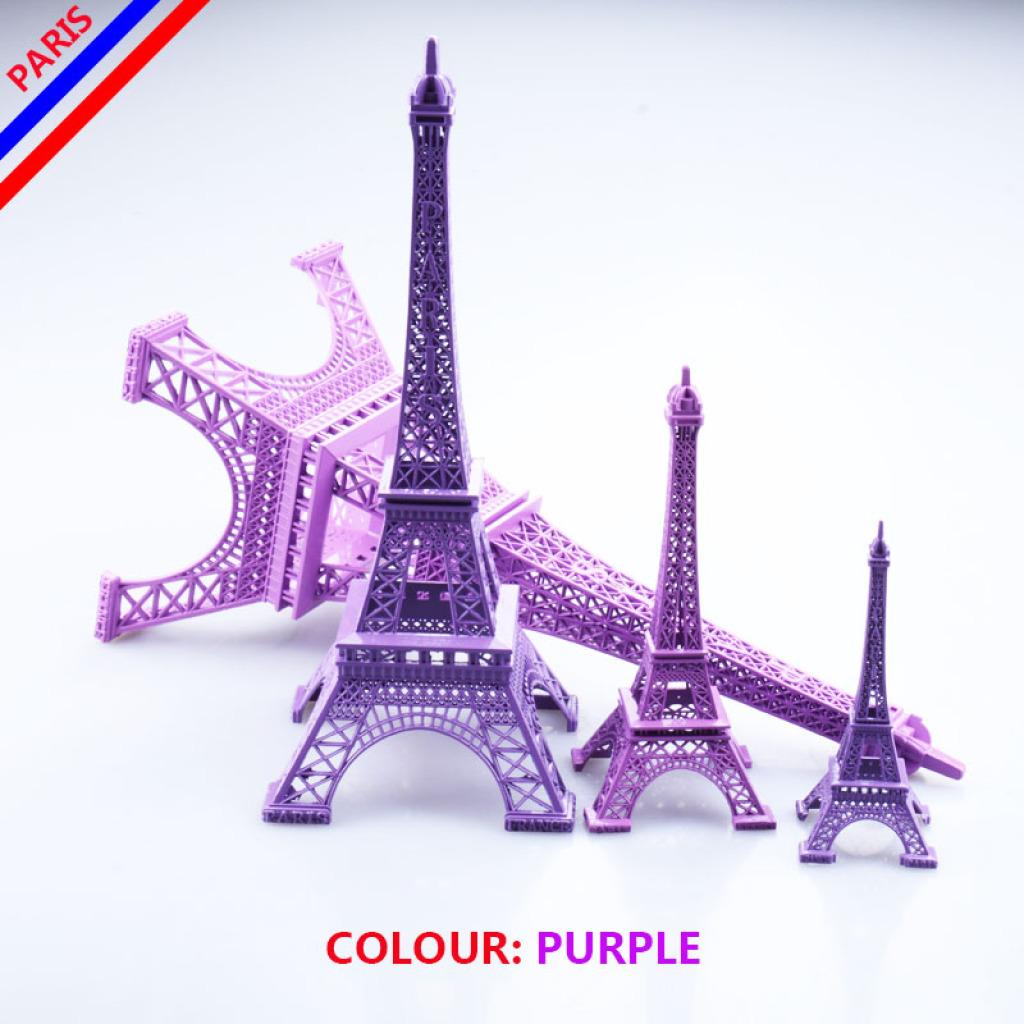 巴黎埃菲尔铁塔模型金属工艺品礼品旅游纪念品紫色