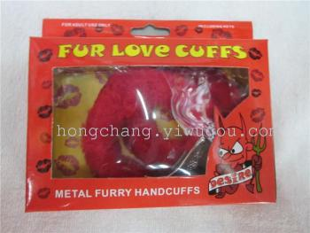 Plush plush toy handcuffs handcuffed handcuffs foot iron handcuffs handcuffs suction card