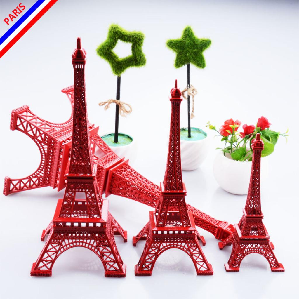厂家直销金属巴黎埃菲尔铁塔模型红色系列