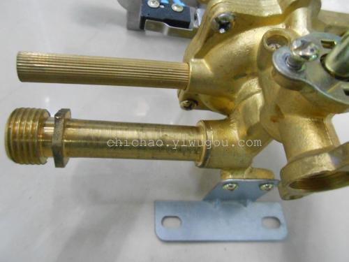 燃气热水器阀体上面的进气管和 安全阀