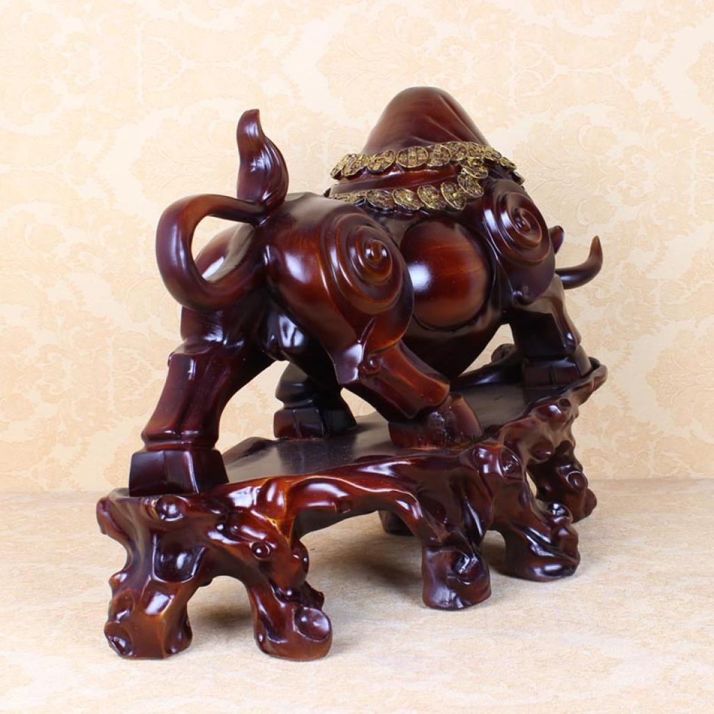 仿木树脂工艺品牛摆件工艺品