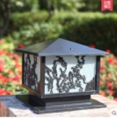 Pillar lamp Wall lamp Wall lamp post lamp posts, square light gate villas Chinese retro outdoor lights lamps