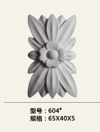 Plastic flower board, wood soft decorated with furniture accessories decorative flower carving crafts