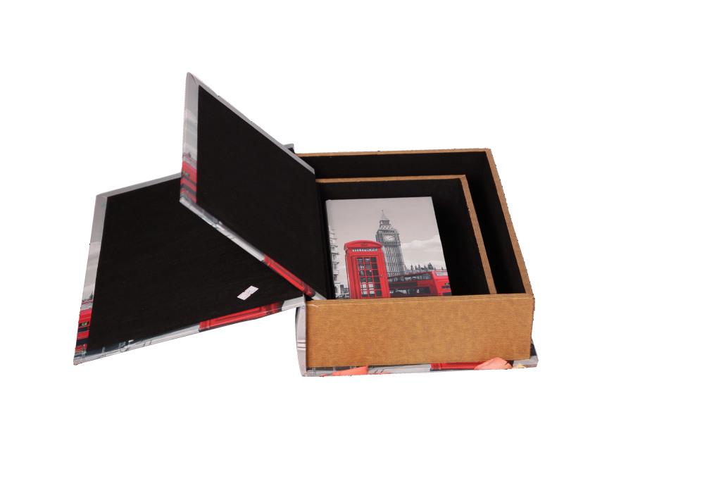 欧式/巴洛克风格做旧书盒套装三件套装